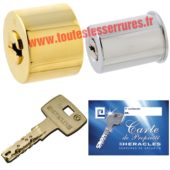 Jeu de cylindres Héraclès Domcav SR à clés réversibles pour montage serrure multipoints Cavith ou Izis