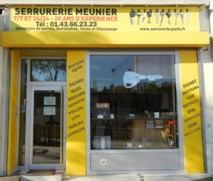 Serrurerie Meunier, artisan serrurier à Paris depuis 1998