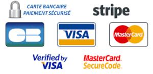 Paiement sécurisé par carte bancaire Visa et MasterCard